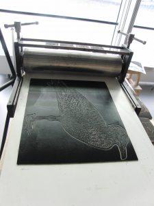 drukpers en plaat