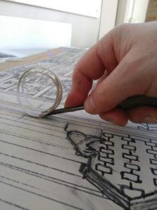 linoleumsnijden proces